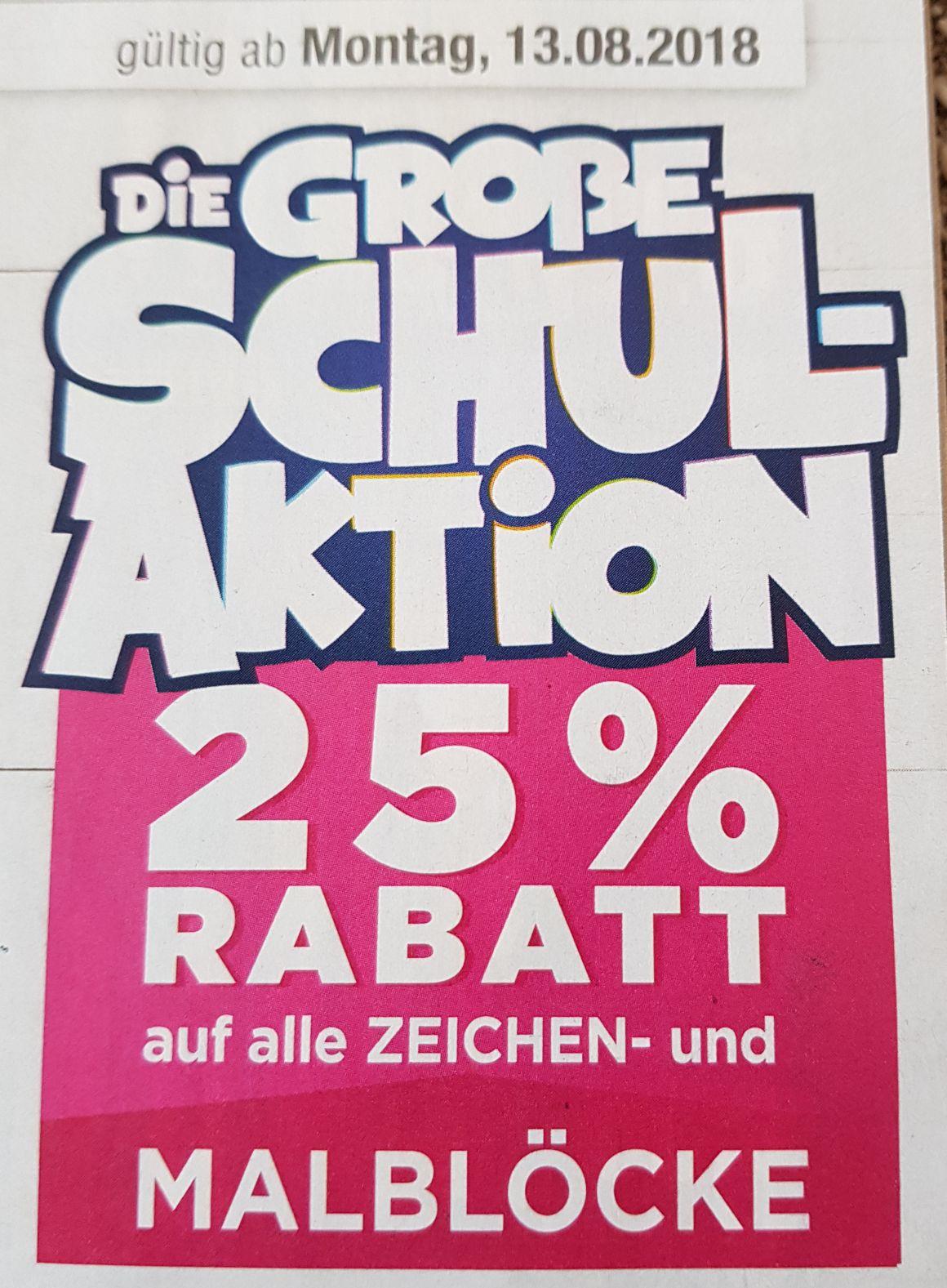 25% Rabatt auf alle Zeichen- und Malblöcke. Die Große Schulaktion [Mäc-Geiz]