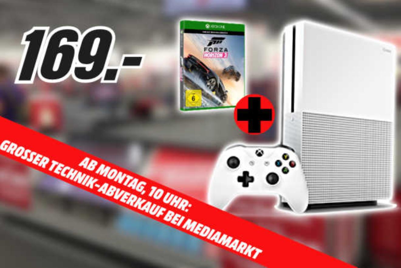 [LOKAL MediaMarkt Leipzig Höfe am Brühl] XBox One S 500GB inkl.Forza Horizon 3 für 169€ uvm.