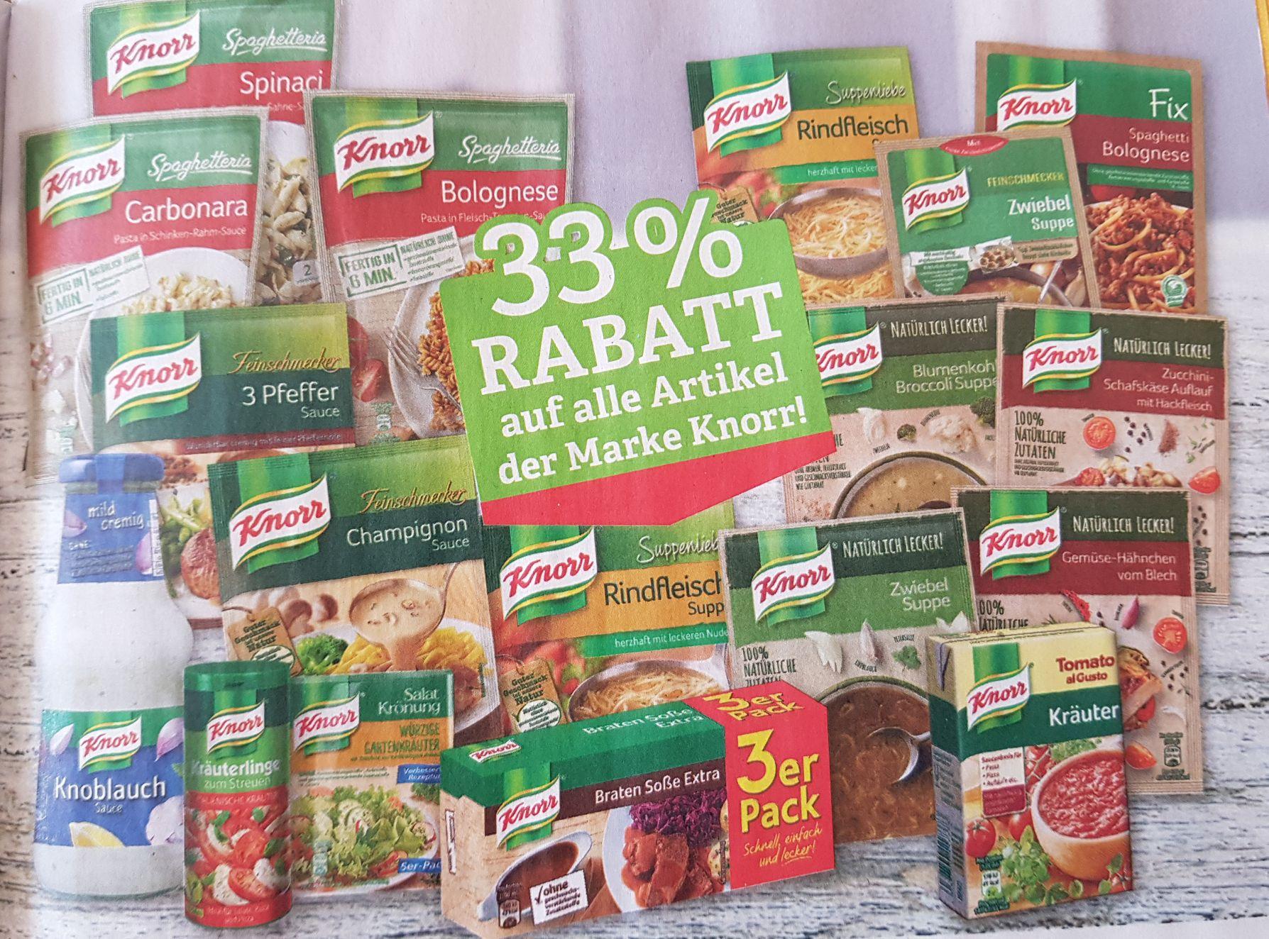 33% Rabatt auf alle Artikel der Marke Knorr [Marktkauf]