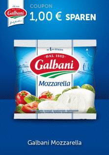 Je 2x Galbani Mozzarella durch couponplatz.de 0,38€/Stk [Kaufland]
