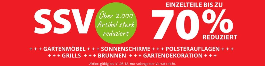 Dehner Gartencenter SSV Sommerschlussverkauf - bis zu 70% Rabatt