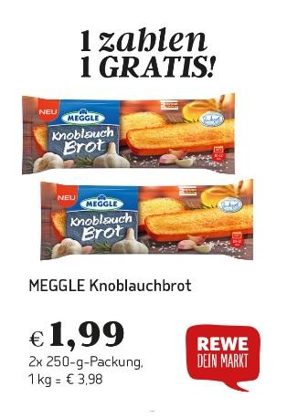 [Rewe] Meggle Knoblauchbrot 2 Stück 2,69€ dank Laviva Coupon
