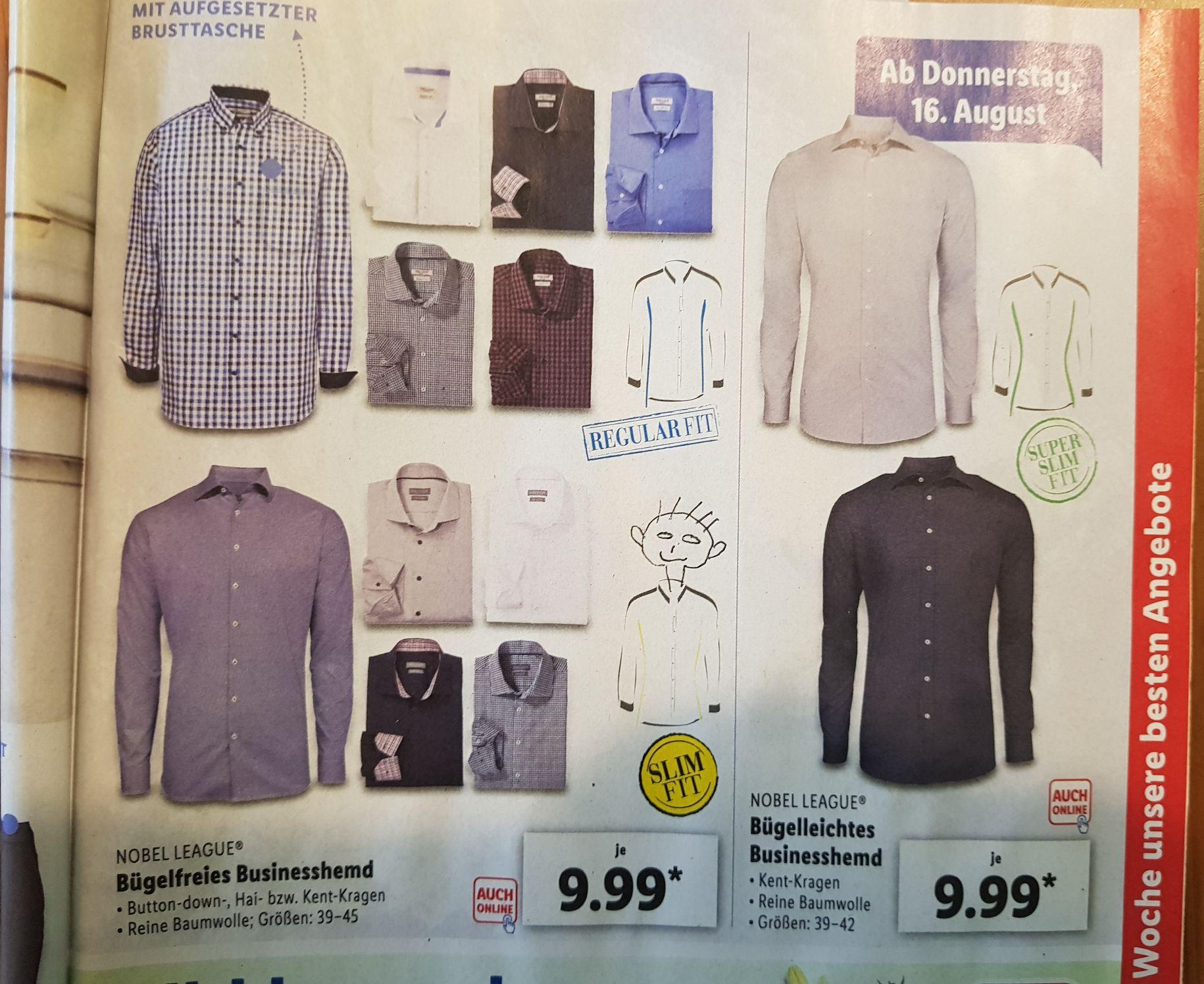 Lidl hat Business Hemden Bügelfrei im Angebot