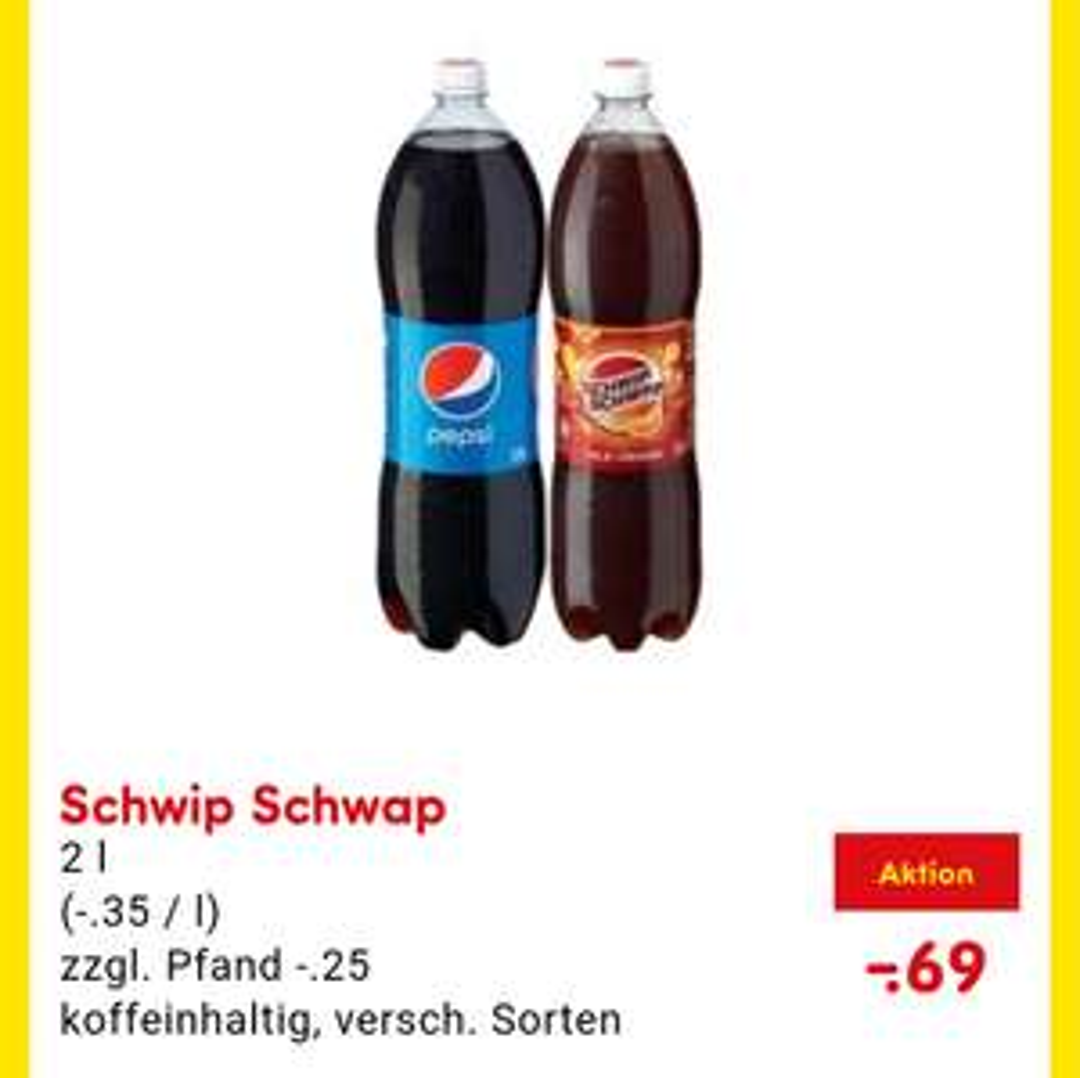 Pepsi Schwip Schwap 2,0 Liter bei Netto