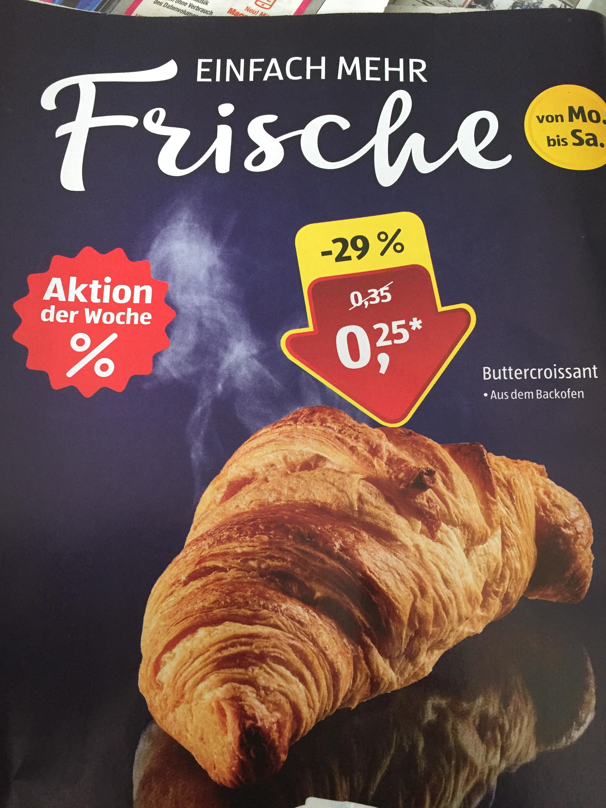 [Aldi Süd] Aktion der Woche: Buttercroissant, frisch aus dem Backofen