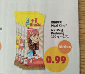 [Penny] Kinder Maxi King 3+1 für 99ct