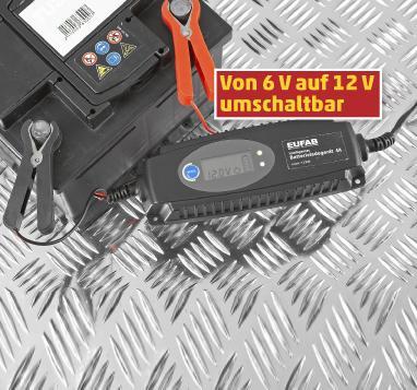 Penny ab 08.10. -  Eufab KFZ-Batterieladegerät 12V/3.8A mit LCD