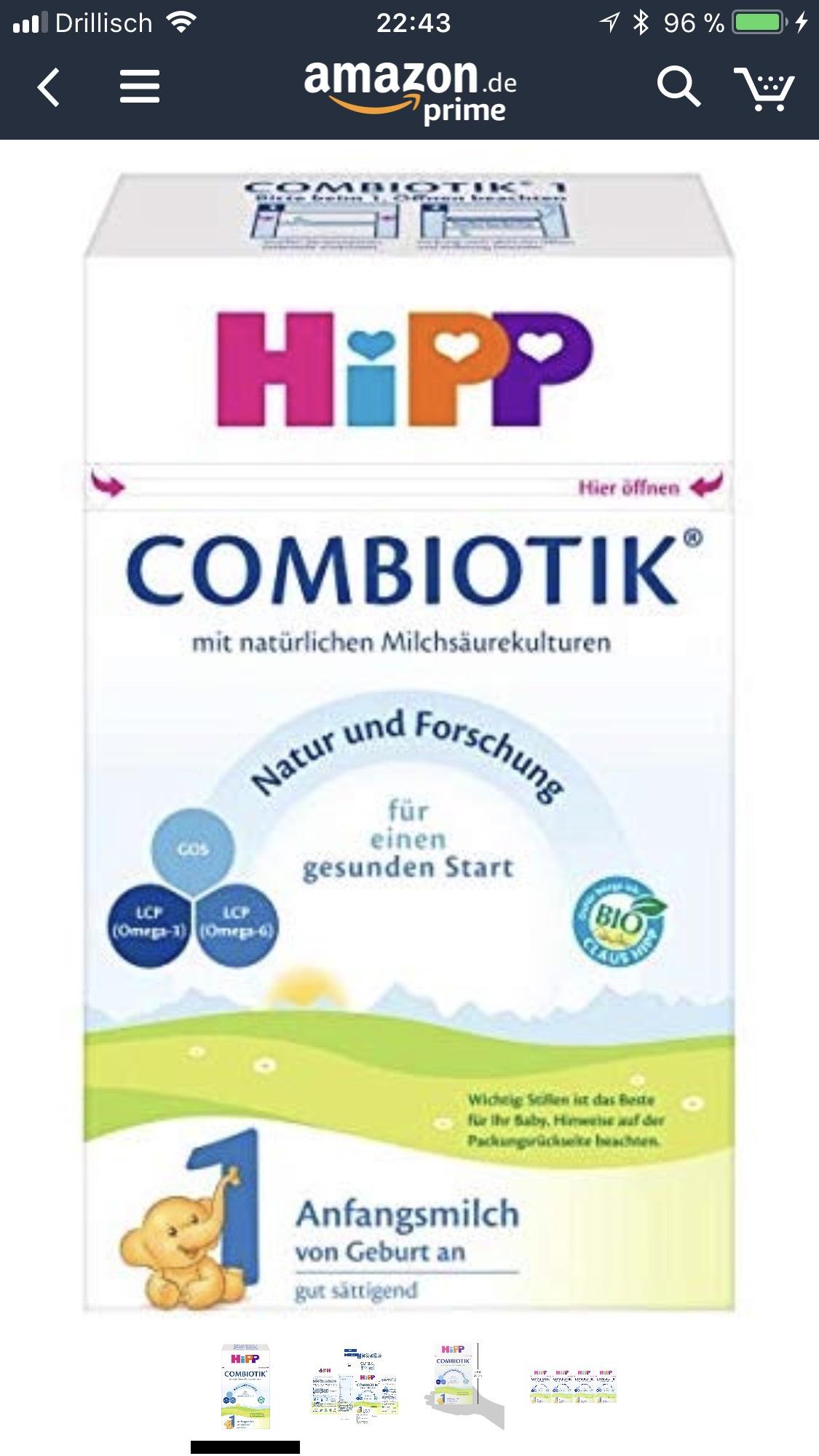 Hipp Combiotik 1 Milchpulver 4x600 Gramm