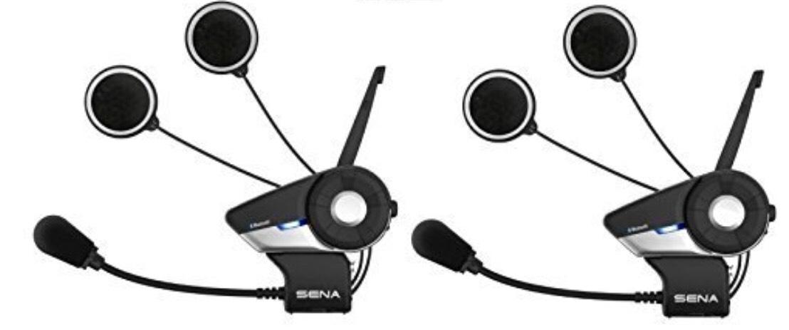 Sena 20S-01D Bluetooth-Kommunikationssystem für Motorräder, Doppelpack