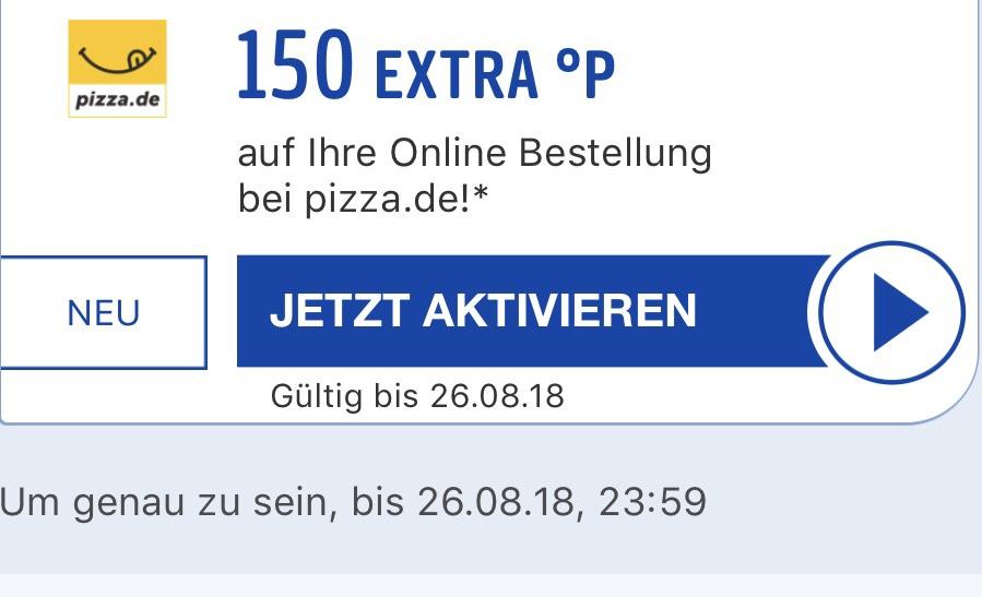 [Payback/Pizza.de] 150 Extra Punkte bei Pizza.de