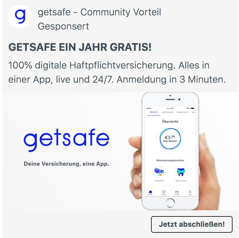 Ein Jahr Haftpflichtversicherung kostenlos und per App!