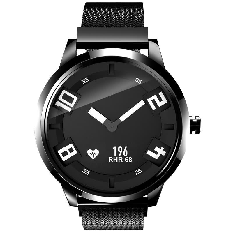 """Lenovo Watch X """"Smartwatch"""", 45 Tage Akku, schwarz, Edelstahlgehäuse, Metallband, Schweizer Uhrwerk, Schrittzähler, Pulsmesser, Wecker, Schlafüberwachung, Sport-Tracking, Benachrichtigungsfunktion, Bluetooth 5.0, Android- + iOS-App"""
