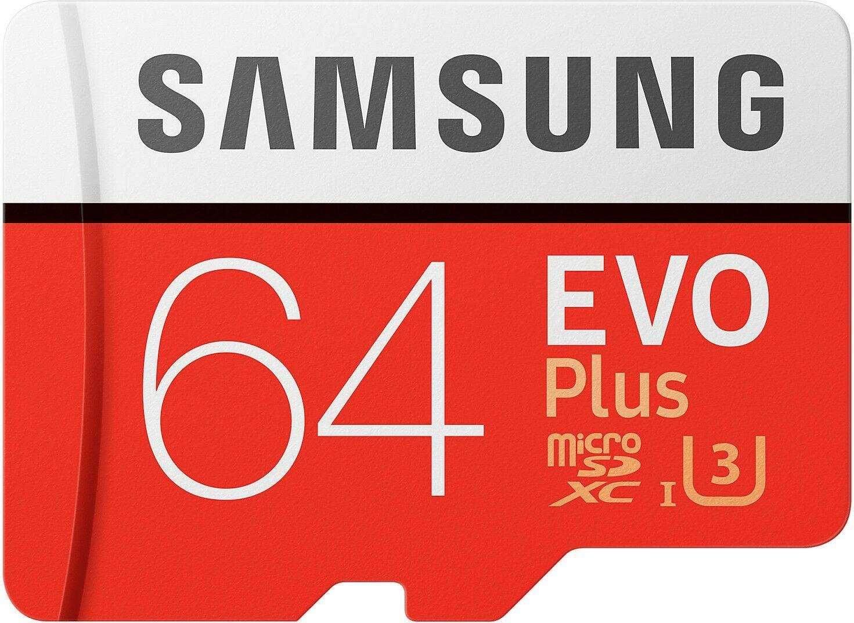 Samsung EVO Plus MicroSDXC - 64GB, U3, bis zu 100 MB/s (Zapals)