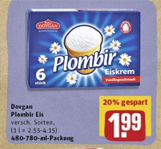 (REWE) Plombir Eis für 1,99€