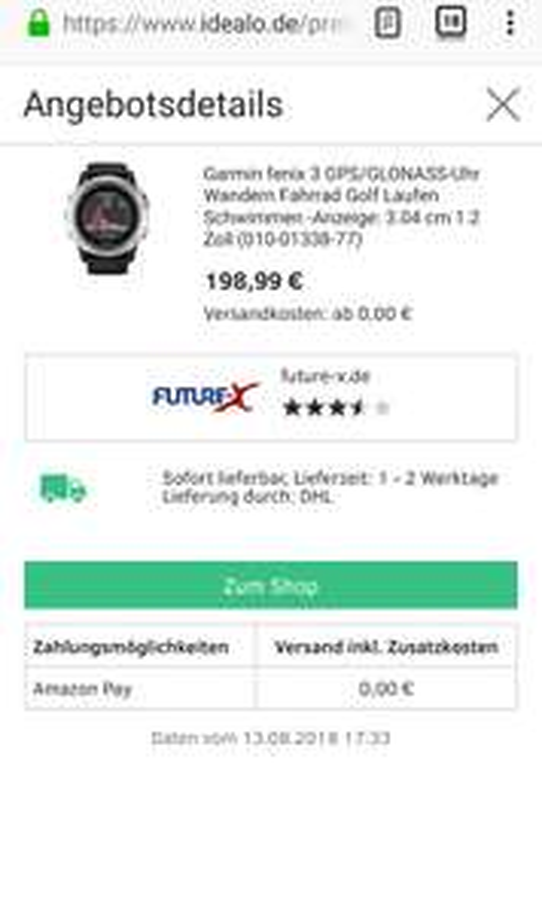 [Future-X] Garmin Fenix 3 HR >>> Amazon Pay