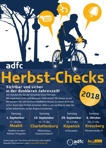 [Berlin] Fahrrad Herbst-Checks 2018