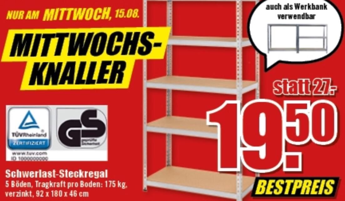 Schwerlast-Steckregal beim B1 Discount Baumarkt