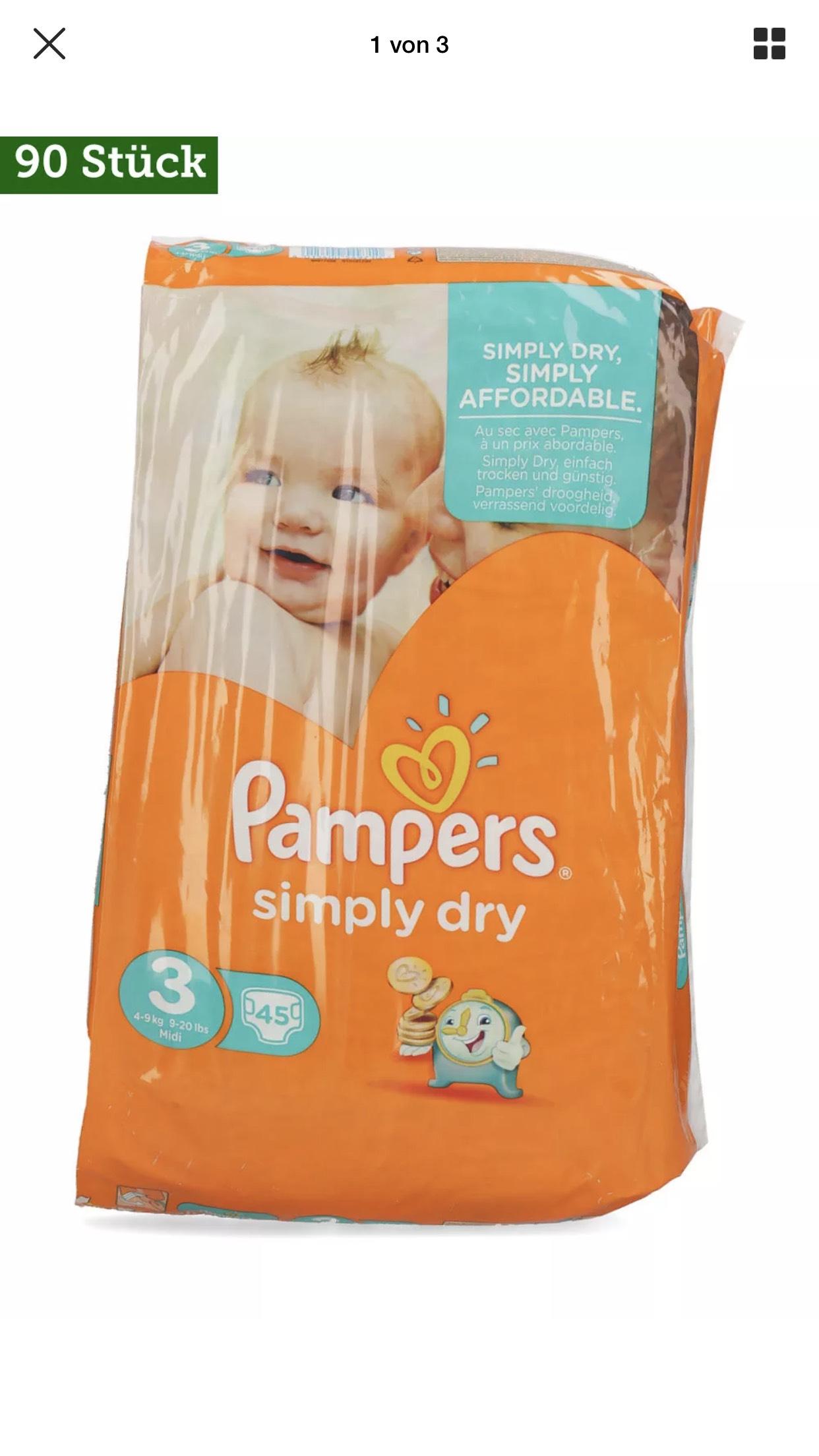 [ebay] Pampers Simply Dry Gr. 3 90 Stück