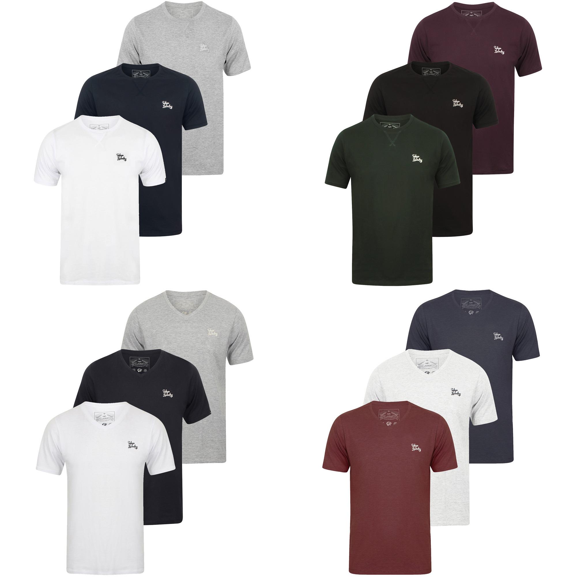 Tokyo Laundry 3er Pack T-Shirts für 13,99 zzgl. Versandkosten (Rund- oder V-Ausschnitt, verschiedene Farben)