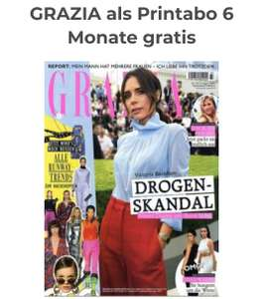 GRAZIA als Printabo 6 Monate gratis abo24.de