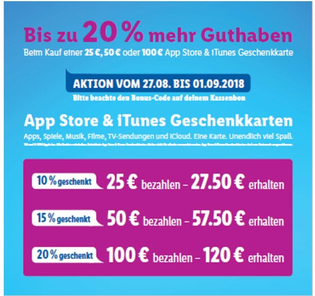 Zusatzguthaben App Store & ITunes Lidl