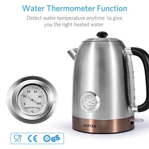 [AMAZON] BESTEK Retro Wasserkocher mit Wassertemperaturanzeige