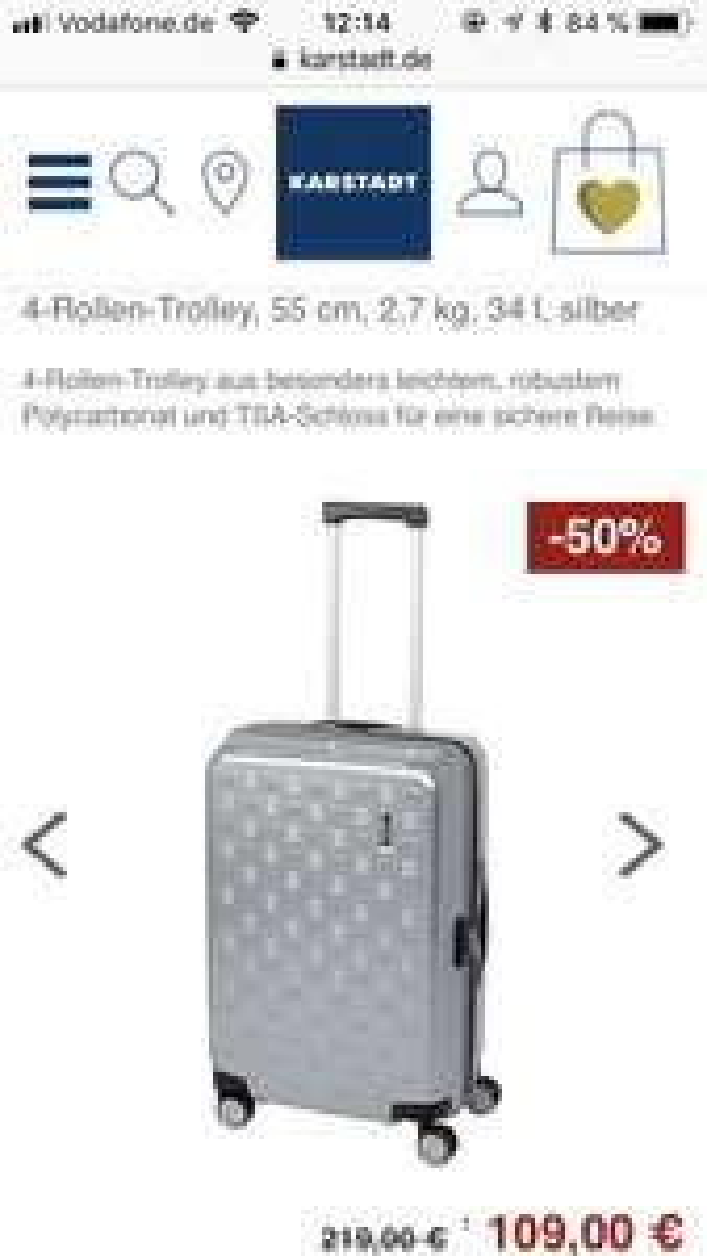 "Samsonite Koffer Cabine-Size Serie ""Alu-Box Spinner"" 55cm, 33L für 109€"