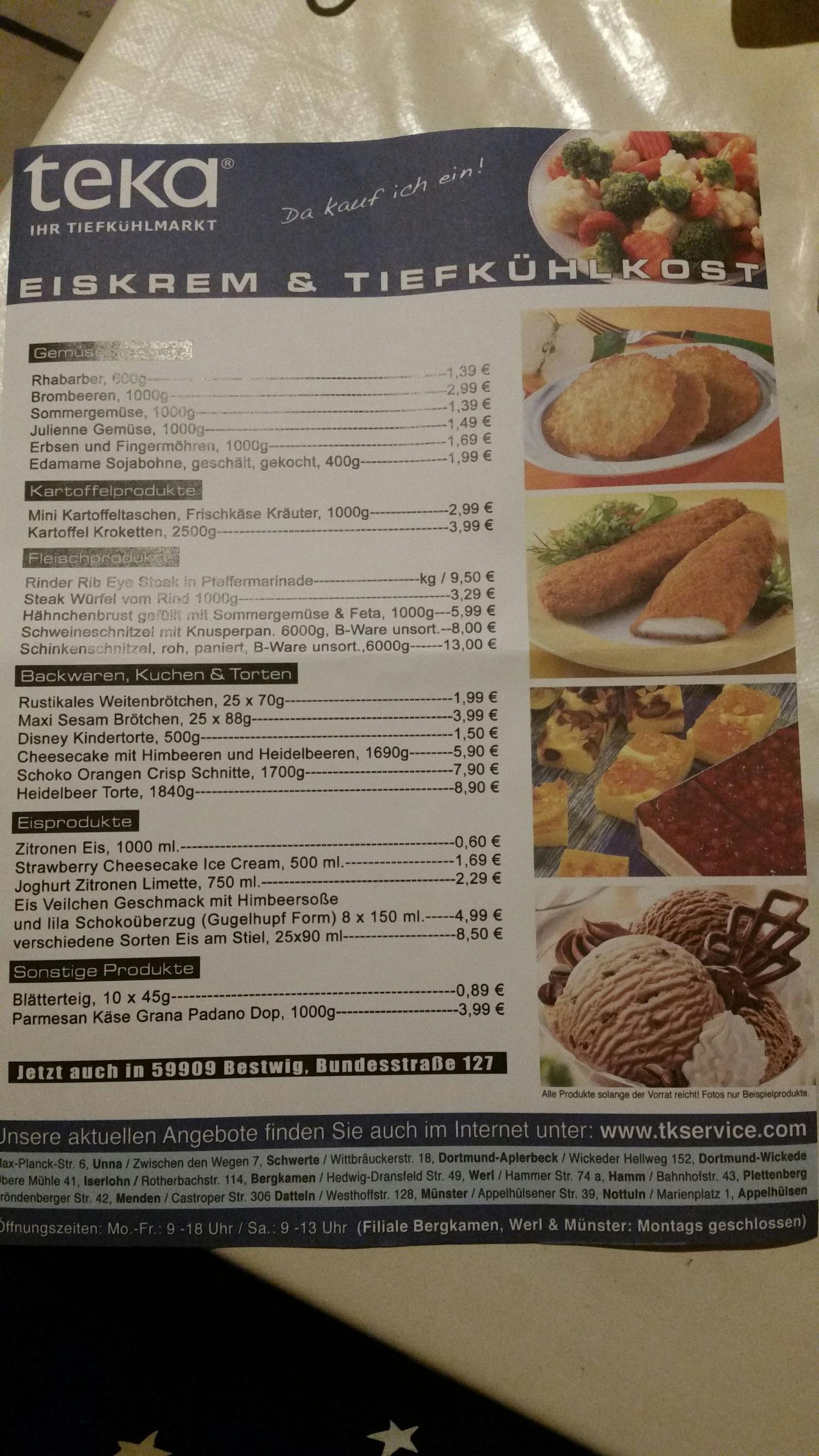 Teka tiefkühlmarkt aktuelle Angebote und weitere schnäppchen