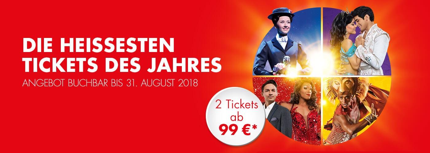 [LOKAL] Stage Musicalsommer - 2 Tickets zum Preis von 1 Ticket