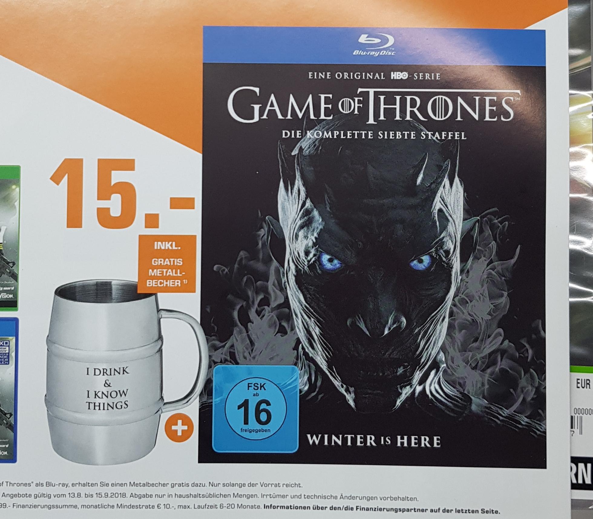 [Lokal] Saturn Berlin Game of Thrones Staffel 7 Blu-ray inkl. Metall-Becher