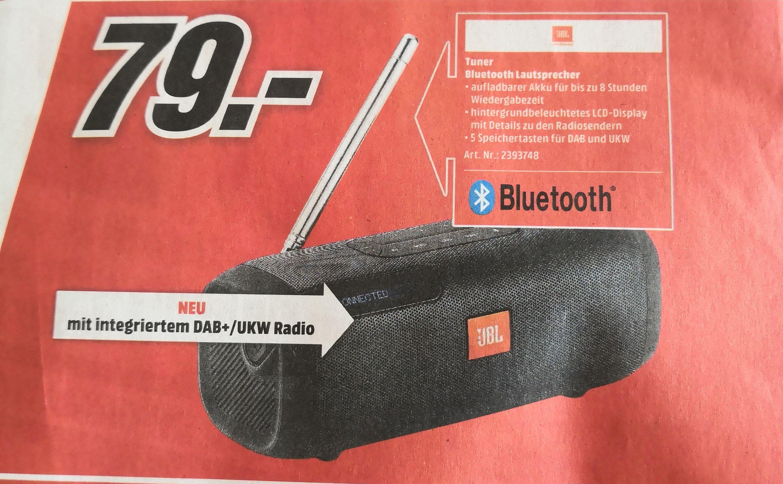 JBL Tuner - Tragbarer Bluetooth-Lautsprecher mit DAB+/UKW-Radio  Media Markt in HN