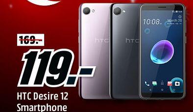 """[Mediamarkt] HTC Desire 12 [13,97cm (5,5"""") HD+ Display, Android 7, 2.2GHz Octa-Core, 13MP] in 2 Farben für je 119,-€"""
