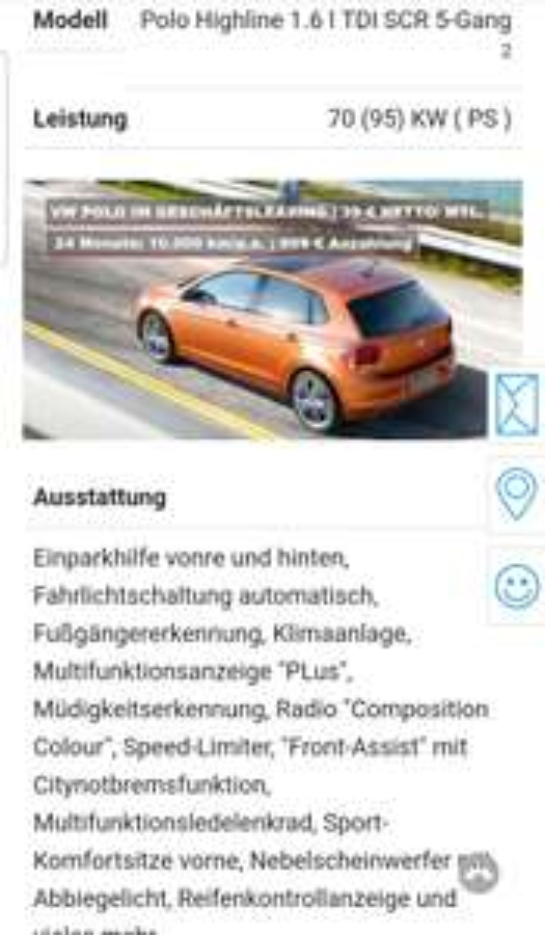 VW Polo Highline Diesel Geschäftsleasing 1935.- in 24 Monaten (netto) plus Zulassung und Überhaupt