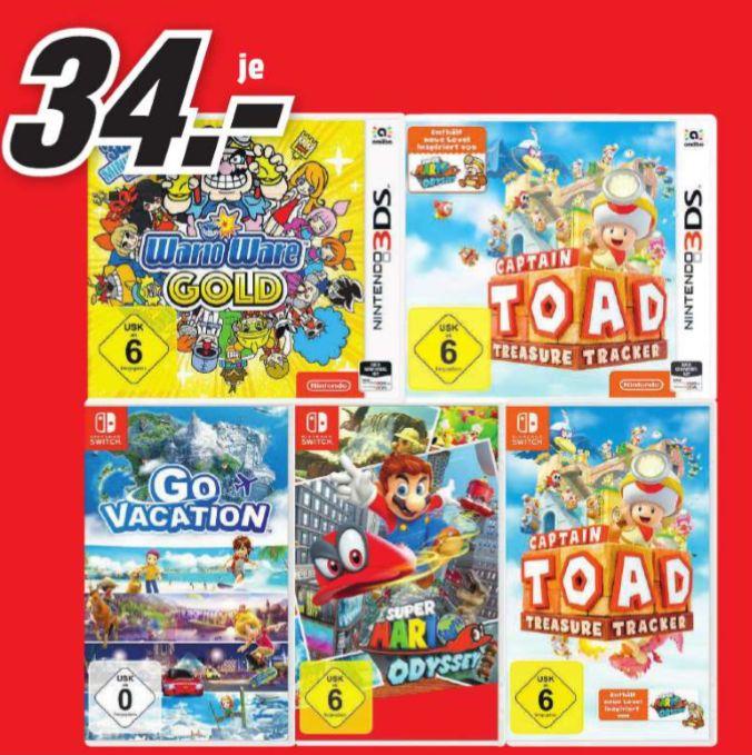 [Regional Mediamarkt Saarlouis] Super Mario Odyssey (Switch) // Go Vacation (Switch) für je 34,-€