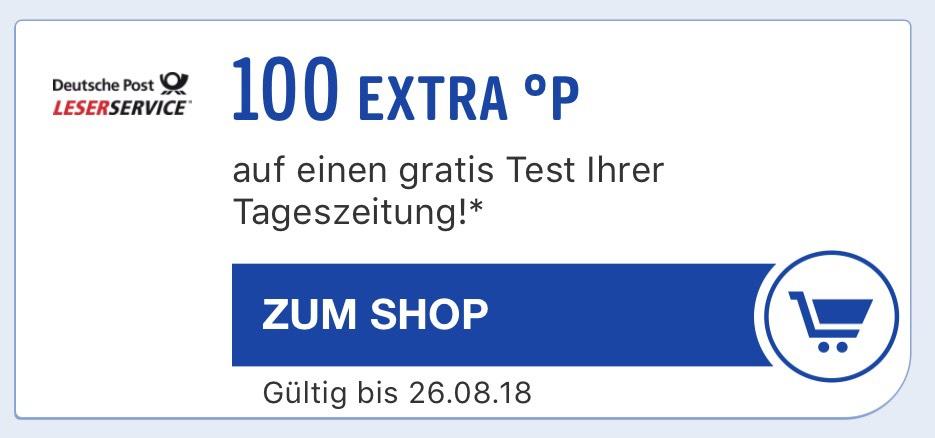 100 Payback Punkte + 2 Wochen Tageszeitung gratis (keine Kündigung ...