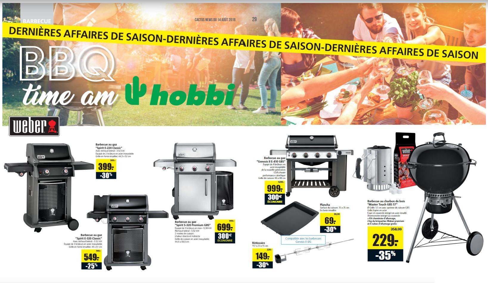 [Cactus Hobbi Luxemburg] Viele gute Weber Angebote, z.B. Spirit S-320 Premium GBS für 699 Euro