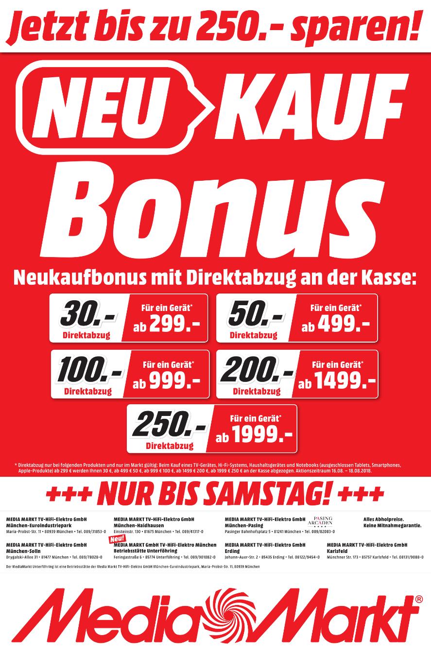 Lokal Media Markt München - Direktabzug bei Neukauf | LG OLED65C8 für 2379€