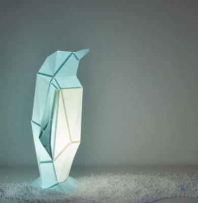 Kinderzimmer-Sale bei Monoqi, z.B. OWL paperlamps, Penguin DIY-Papierleuchte