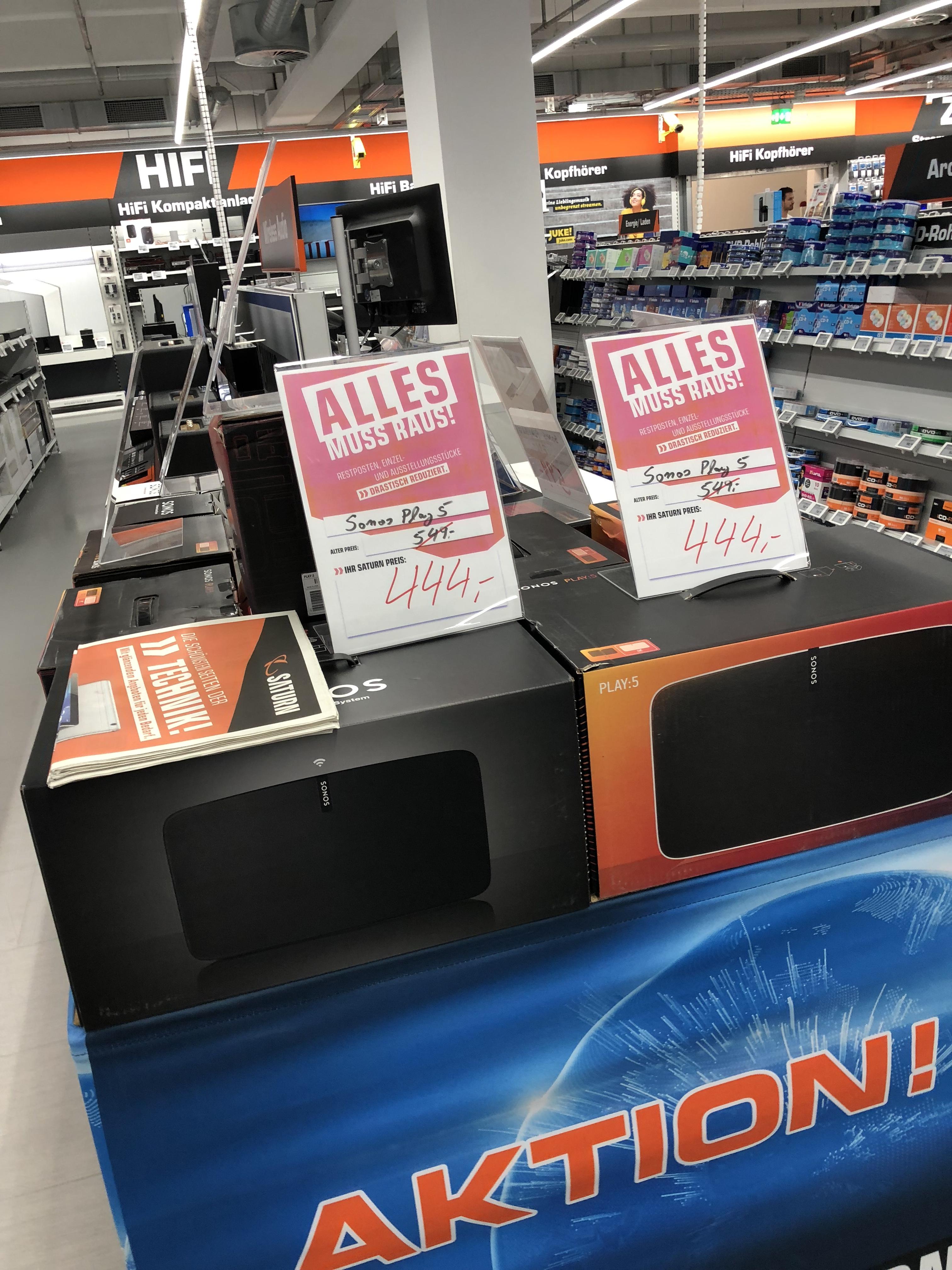 [Lokal] Sonos Play 5 (444€) + PlayBase (599€) im Saturn Bielefeld