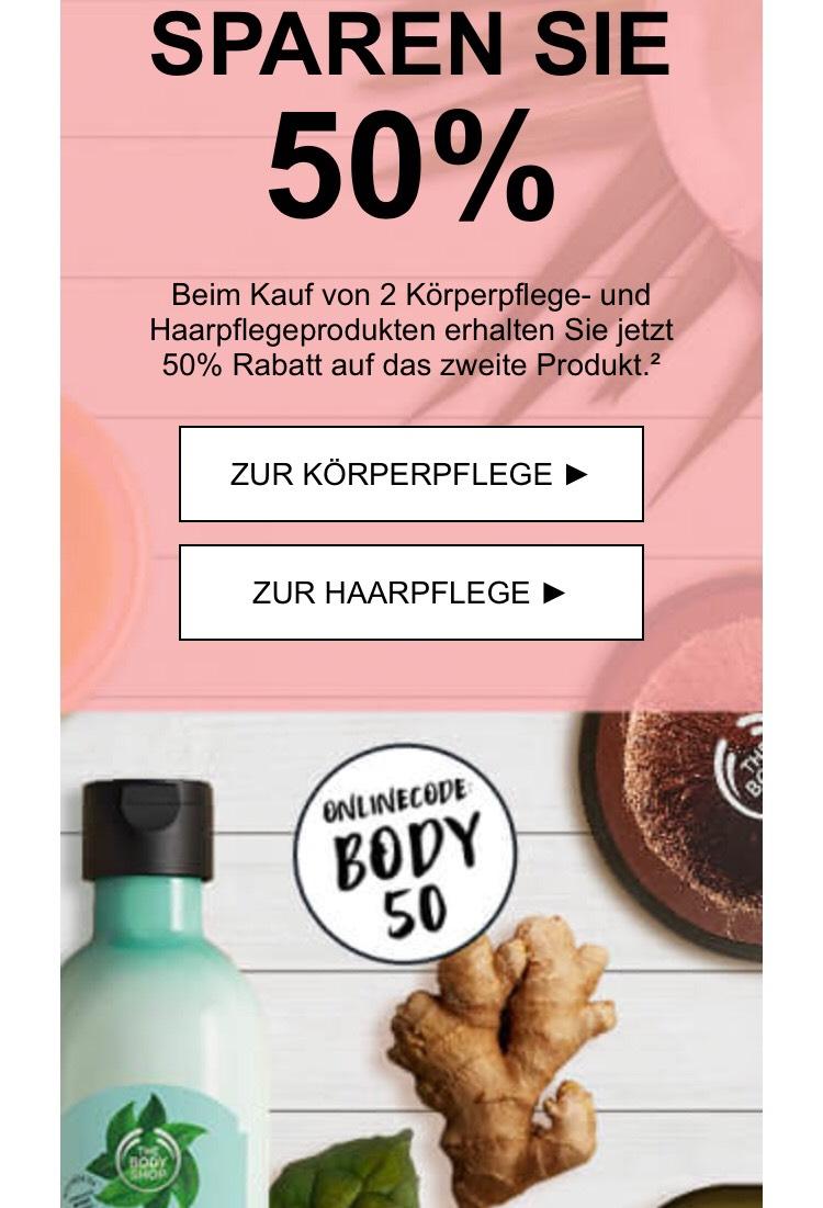The Body Shop 50% auf das zweite Produkt
