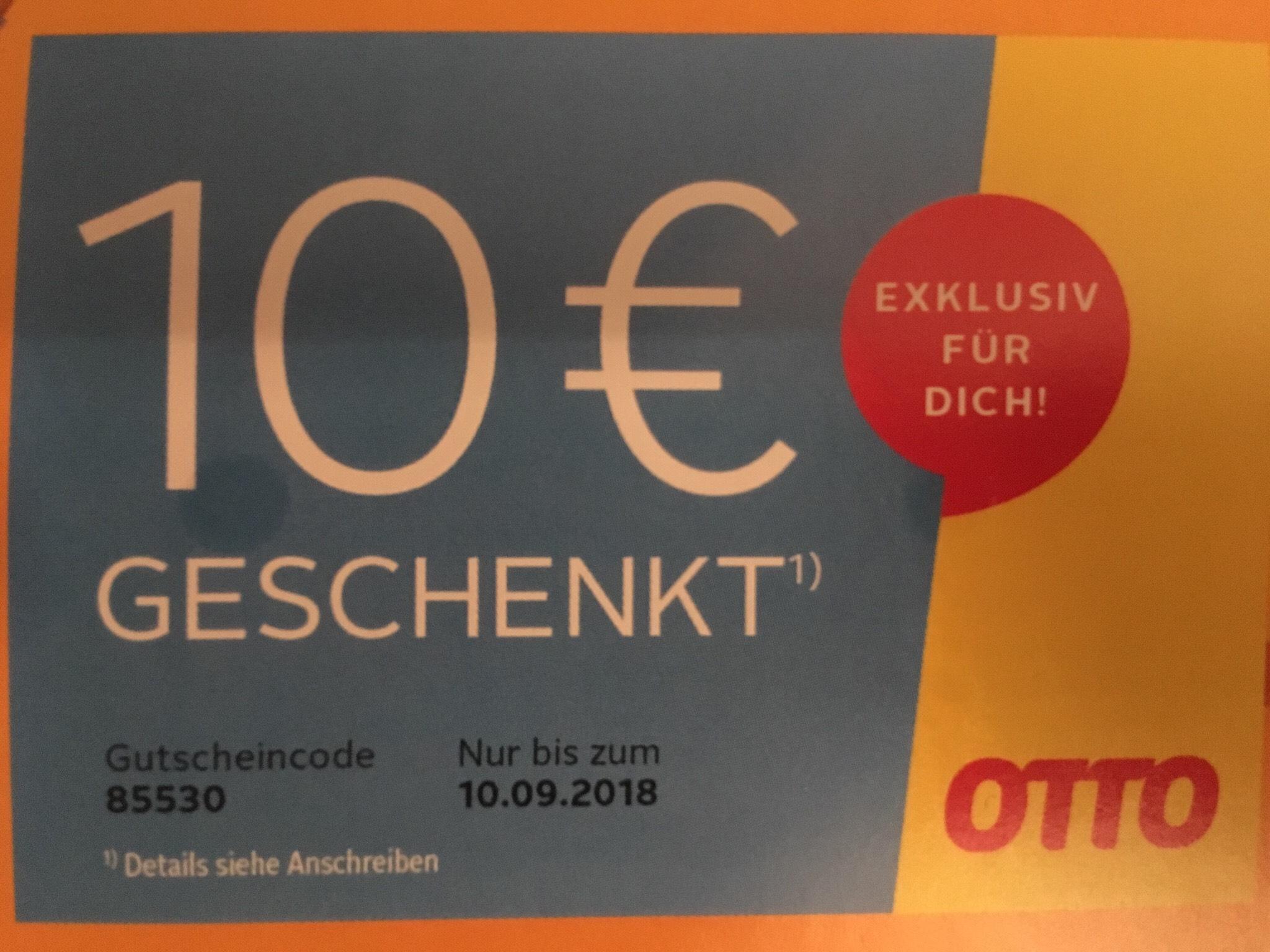 10€ Otto-Gutschein (ausgewählte Kunden)