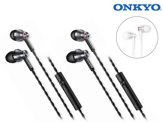 Onkyo E300M In-Ear-Kopfhörer (Duo-Pack) für 29,95€[iBood]