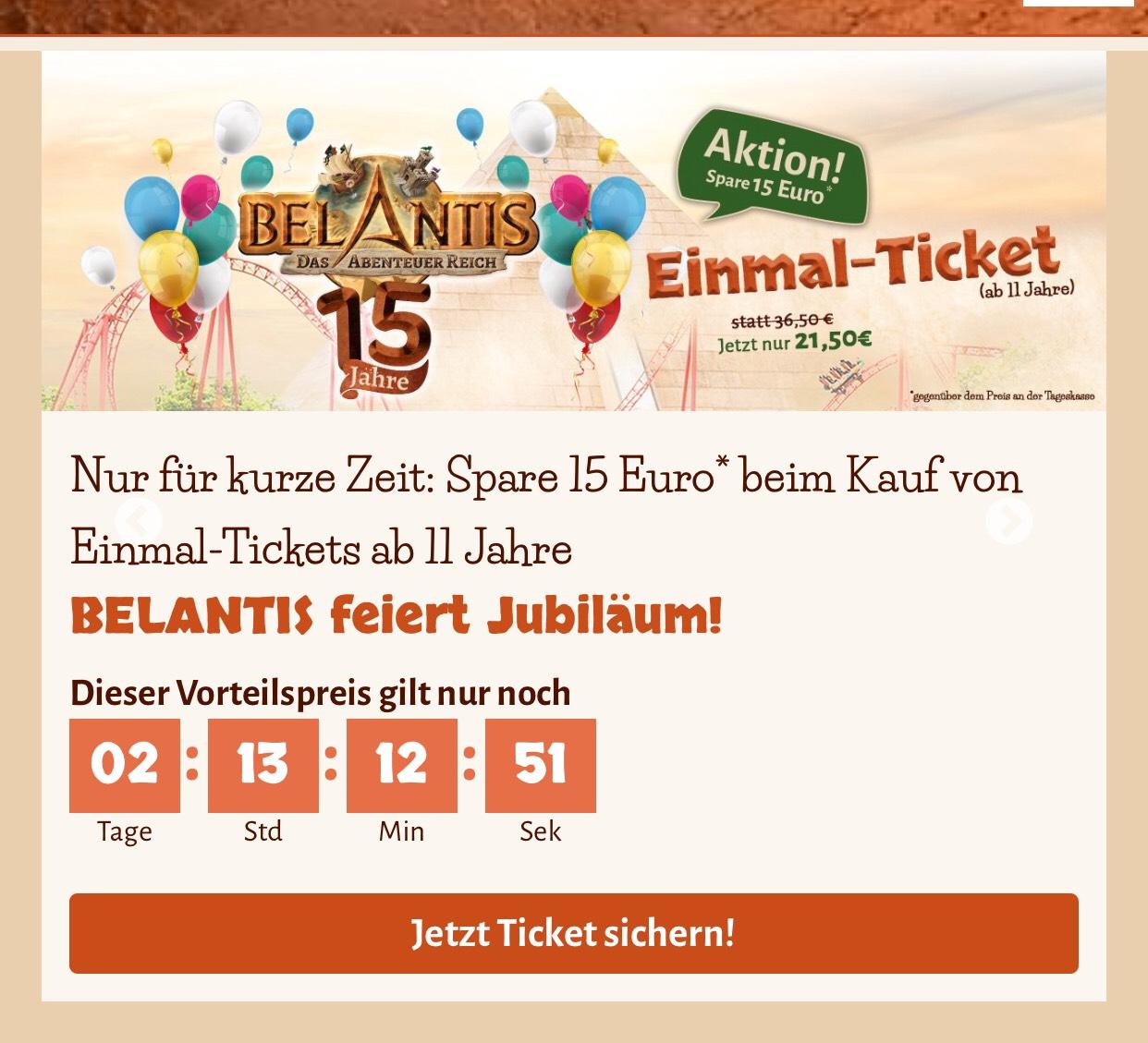 Belantis Leipzig - 15€ Rabatt p.P. ab 11 Jahren