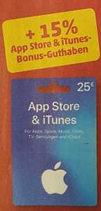 Apple Itunes 15% Extra Guthaben ab 25€ bei Penny 20.08-26.08