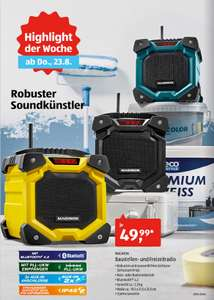 aldi s d baustellenradio freizeitradio mit bluetooth ip45 uvm f r 49 99 euro. Black Bedroom Furniture Sets. Home Design Ideas