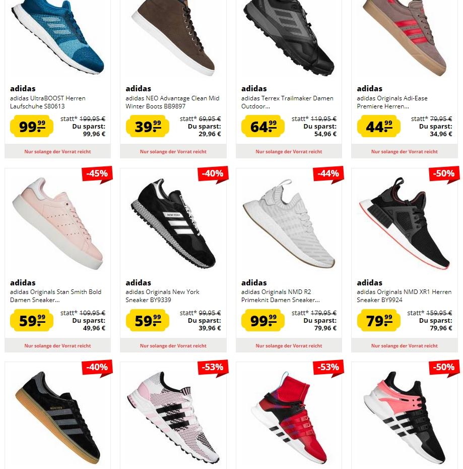 [SportSpar] SALE NEUZUGANG Adidas Sneaker ab 49,99 € & Adidas Trikots und Sportshirts ab 5,99 €
