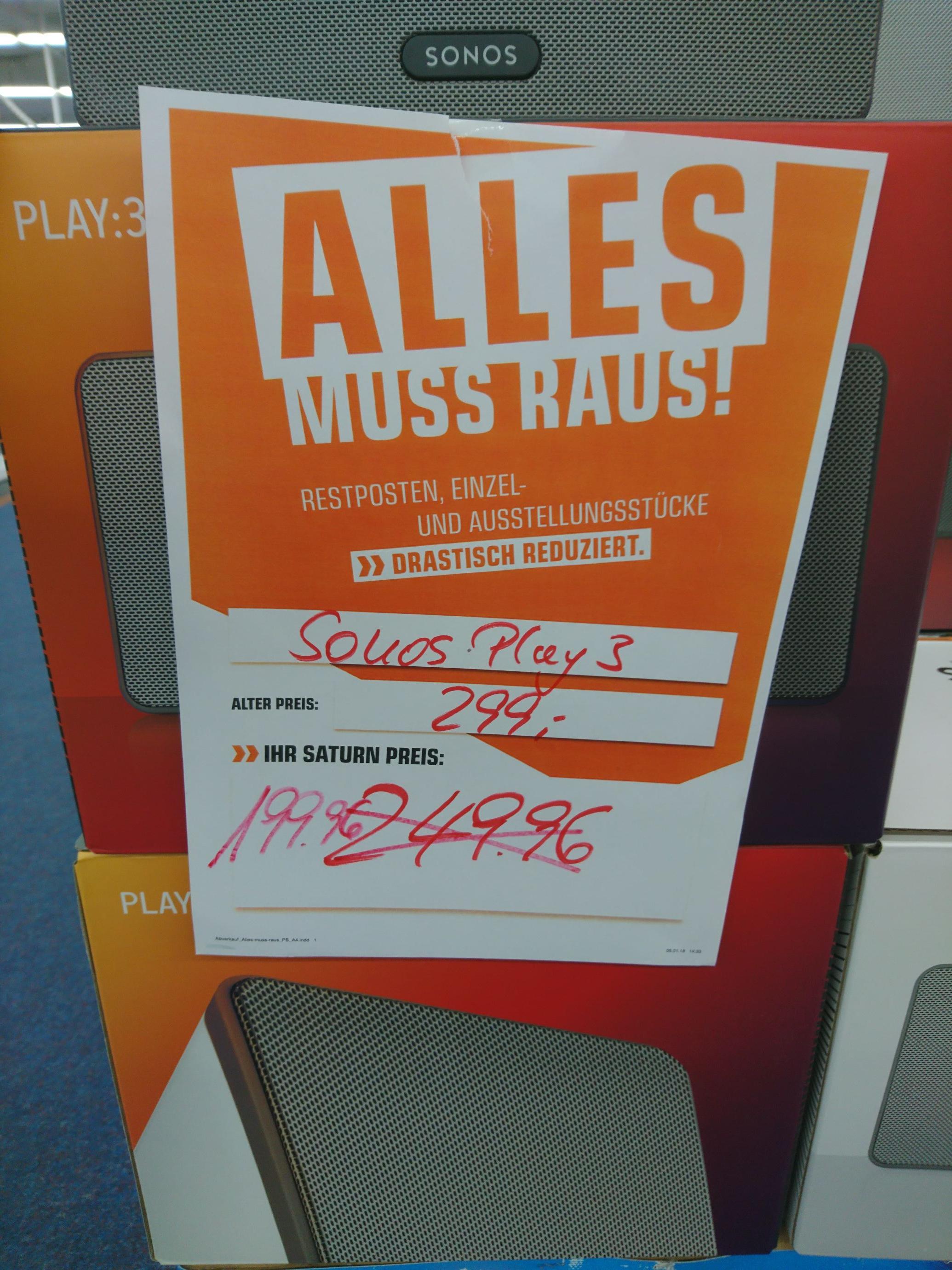 Lokal Moers Saturn: Sonos Play 3 s+w