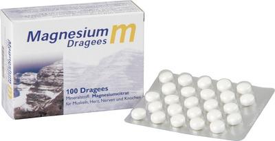 200 Stk. Magnesium M Dragees mit Trimagnesiumdicitrat