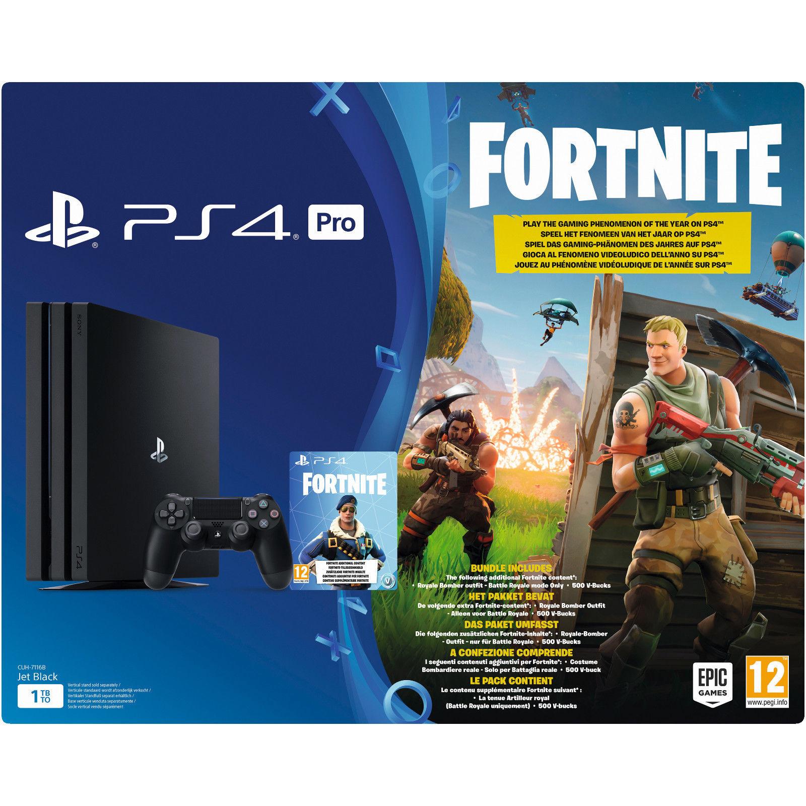 [eBay MediaMarkt] Sony PlayStation 4 (PS4) Pro 1TB + Fortnite Royal Bomber Pack