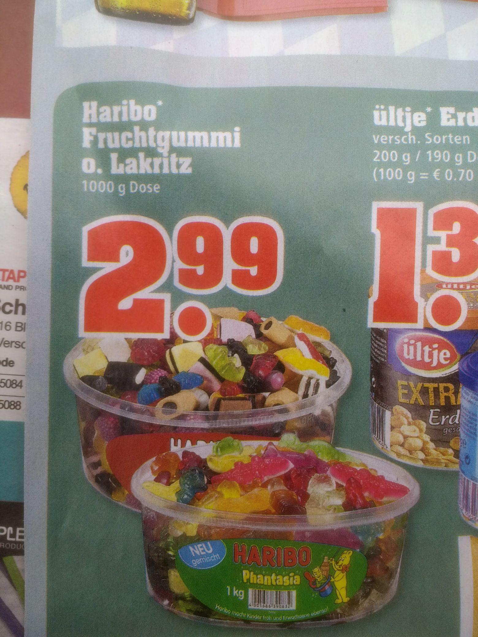 Trinkgut: Haribo Fruchtgummi oder Lakritz: 1KG für 2,99€